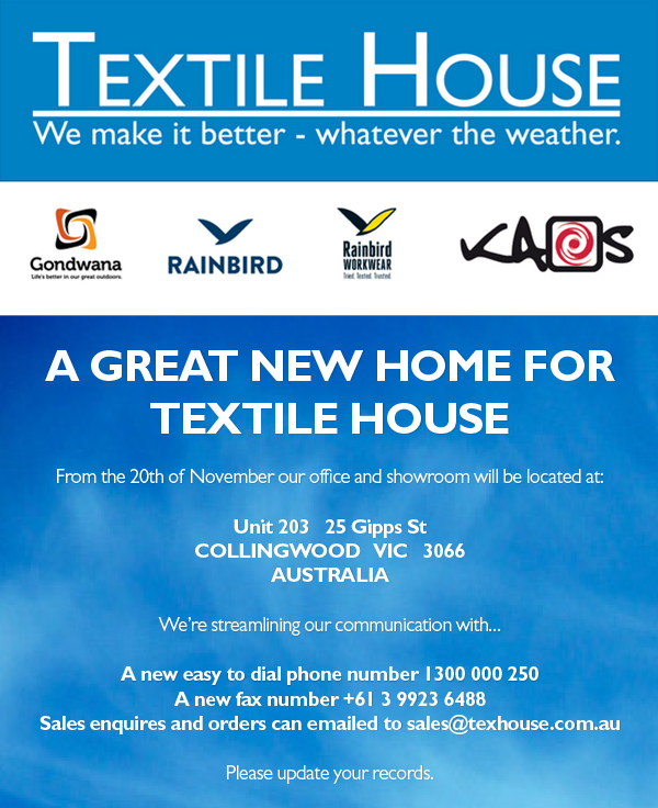 Textile House moving to Collingwood
